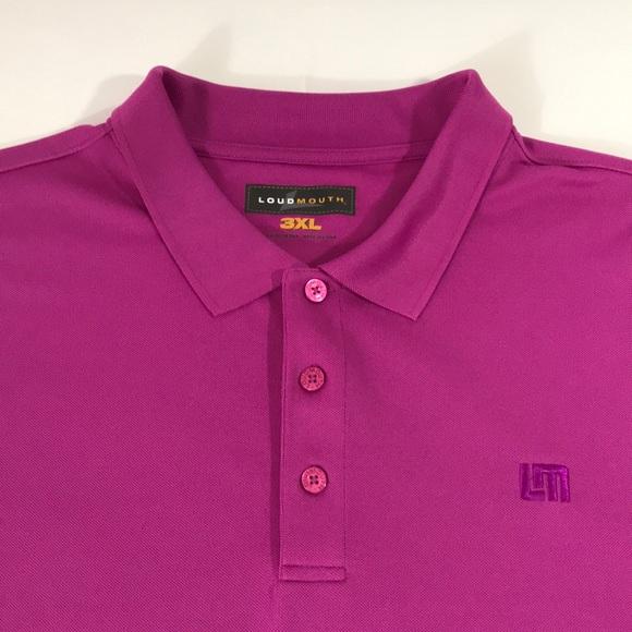 Men's 3XL Loudmouth Golf Polo Shirt Magenta
